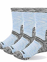 cheap -3 pairs of women's hiking socks breathable sports socks trekking socks for outdoor activities (l)