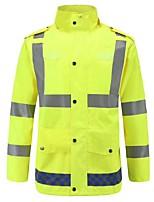 cheap -Men's Reflective Jacket Waterproof Hiking Jacket Rain Jacket Outdoor Waterproof Lightweight Windproof Breathable Raincoat Top Fishing Climbing Camping / Hiking / Caving Yellow / Quick Dry
