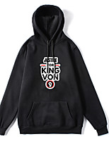 cheap -Inspired by Cosplay king Von Cosplay Costume Hoodie Polyester / Cotton Blend Graphic Prints Printing Hoodie For Men's / Women's