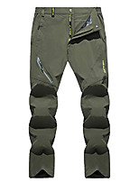 cheap -men's sports performance elastic waist straight outdoor running pants trousers army green, 36