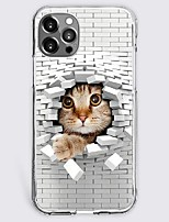 cheap -Novelty Cat Case For Apple iPhone 12 iPhone 11 iPhone 12 Pro Max Unique Design Protective Case Shockproof Back Cover TPU
