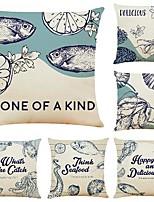 cheap -cushion cover 6pcs linen soft decorative square throw pillow cover cushion case pillowcase for sofa bedroom 45 x 45 cm (18 x 18 inch) superior quality machine washable