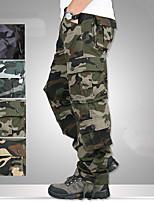 cheap -Men's Hiking Cargo Pants Camo Summer Outdoor Breathable Anti-tear Multi-Pocket Cotton Bottoms Black Army Green Blue Khaki Hunting Fishing Climbing 29 30 32 34 36