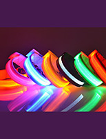 cheap -1pc adjustable glowing led sports armband bands bracelet night safety light belt for running cycling or walking (pink)