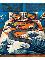 cheap -dragon print 3-piece duvet cover set hotel bedding sets comforter cover with soft lightweight microfiber, include 1 duvet cover, 2 pillowcases for double/queen/king(1 pillowcase for twin/single)