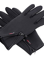 cheap -outdoor sports winter bike cycling hiking glove windproof simulated leather soft& warm gloves black size s / m / l / xl