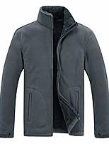 cheap -Men's Hiking Fleece Jacket Winter Outdoor Lightweight Windproof Breathable Quick Dry Jacket Top Fleece Fishing Climbing Camping / Hiking / Caving Dark Gray Wine ArmyGreen Black Navy Blue