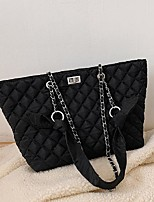 cheap -Women's Bags Nylon Synthetic Top Handle Bag Buttons Handbags Daily Outdoor Black Brown
