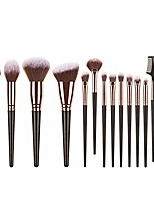 cheap -portable makeup brushes, 15pieces professional eye makeup cosmetics brush set, eyeliner, eye shadow, eye brow, foundation, powder liquid cream blending brush, premium handles (black)