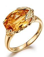 cheap -Ring 3D Champagne Copper Rhinestone Gold Plated Precious Fashion 1pc 7 8 9 / Women's
