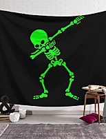 cheap -wall tapestry art decor blanket curtain hanging home bedroom living room decoration skeleton pose polyester