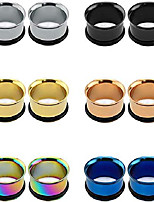 """cheap -surgical stainless steel single flare tunnels flesh plugs expander ear gauges with silicone o-rings (gauge=1""""(25mm))"""
