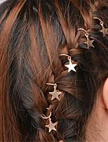 cheap -Women's Girls' Hair Sticks Hair Jewelry For Christmas Wedding Party Evening Street Star Classic Alloy Silver Golden 5pcs
