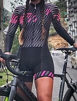 cheap -Men's Women's Long Sleeve Cycling Jersey with Shorts Triathlon Tri Suit Black Bike Breathable Quick Dry Sports Mountain Bike MTB Road Bike Cycling Clothing Apparel / Stretchy / Athletic