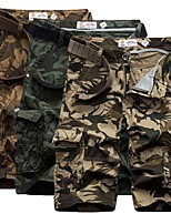 "cheap -Men's Hiking Cargo Shorts Camo Outdoor 10"" Loose Breathable Anti-tear Multi-Pocket Cotton Shorts Army Green Khaki Coffee Hunting Fishing Climbing 29 30 31 32 34"