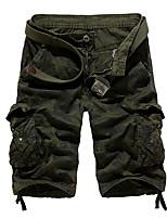 "cheap -Men's Hiking Cargo Shorts Camo Summer Outdoor 10"" Loose Breathable Anti-tear Multi-Pocket Cotton Shorts Red Army Green Grey Khaki Green Hunting Fishing Climbing 29 30 31 32 34"