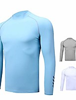 cheap -golf sweatshirt, summer men's long sleeve sunscreen clothing ice silk lycra breathable quick-drying ice silk bottoming shirt,a,xl