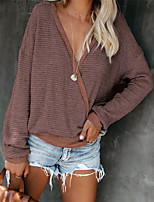 cheap -chvity women's long sleeve v neck wrap top blouse casual waffle knit tunic tops (xl, rust red)