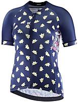 cheap -21Grams Men's Short Sleeve Cycling Jersey Dark Navy Polka Dot Bike Jersey Mountain Bike MTB Road Bike Cycling Breathable Sports Clothing Apparel / Athletic