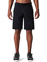 cheap -men's hiking shorts uv protection bermuda shorts short trekking pants breathable knee-length outdoor pants rv pockets upf 50+ black size m