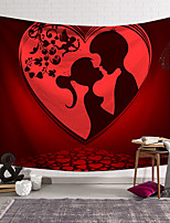 cheap -valentine's day wall tapestry art decor blanket curtain hanging home bedroom living room decoration couple kissing cupid polyester