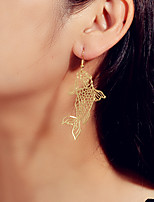 cheap -Women's Drop Earrings Hollow Out Fish Trendy Earrings Jewelry Gold / Silver For Party Evening Date