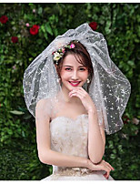 cheap -Four-tier Sweet Style Wedding Veil Shoulder Veils with Starfish and Seashell Tulle