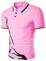 cheap -men's short sleeve polo shirt,golf tennis t-shirt lightweight and breathable, casual classic comfortable polo shirt,simple printed pink,3xl