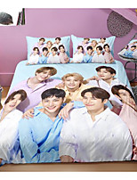 cheap -got7 series 3-piece duvet cover set hotel bedding sets comforter cover with soft lightweight microfiber, include 1 duvet cover, 2 pillowcases for double/queen/king(1 pillowcase for twin/single)