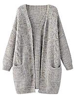 cheap -women's winter / autumn warm knit knit knit casual pockets open knitted coats winter coats cardigan coat - green - xl