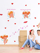 cheap -valentine's day creative cupid wall sticker wedding decoration mural art decals wallpaper for home decor stickers