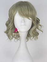 cheap -Synthetic Wig Cindy Final Fantasy Curly With Bangs Wig Short Green Synthetic Hair 12 inch Women's Comfy Fluffy Green