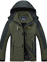cheap -Men's Women's Hoodie Jacket Hiking Softshell Jacket Hiking Windbreaker Outdoor Waterproof Lightweight Windproof Breathable Jacket Top Fishing Climbing Camping / Hiking / Caving Male black Female