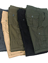 """cheap -Men's Hiking Cargo Shorts Solid Color Summer Outdoor 10"""" Breathable Anti-tear Multi-Pocket Cotton Shorts Green / Yellow Black Yellow Army Green Grey Hunting Fishing Climbing 29 30 31 32 33"""