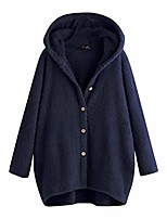 cheap -women cardigan sweater with hood,autumn winter clearance 2020 newest warm comfy soft simple hoodie long sleeve pocket sweatshirt button solid fleece tops coat party daily thanksgiving gift
