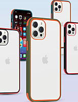 cheap -Tpu Smooth Soft Clear Case for Apple iPhone 12 11 SE 2020 Multicolor Shockproof Mobile Phone Case Solid Colore Protective Contrast Color Case For iPhone 12 Pro Max Xr Xs Max iPhone 8 Plus 7