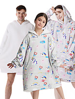 cheap -oversized sherpa wearable unicorn blanket hoodie with pocket for unisex kids cosplay one size fits all