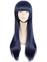 cheap -24 inch wig sora no method shione togawa cosplay wigs long blue black mixed color cosplay wig heat resistant synthetic hair