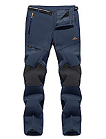 cheap -men's pants working training winter fleece lined pants zipper pockets, navy, 30