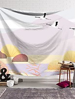 cheap -wall tapestry art decor blanket curtain hanging home bedroom living room decoration red-crowned crane soaring polyester