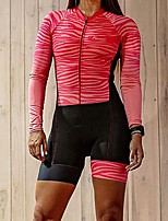 cheap -Men's Women's Long Sleeve Cycling Jersey with Shorts Triathlon Tri Suit Red Bike Breathable Quick Dry Sports Mountain Bike MTB Road Bike Cycling Clothing Apparel / Stretchy / Athletic