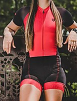 cheap -Men's Women's Short Sleeve Cycling Jersey with Shorts Triathlon Tri Suit Red Bike Breathable Quick Dry Sports Mountain Bike MTB Road Bike Cycling Clothing Apparel / Stretchy / Athletic