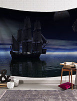 cheap -wall tapestry art decor blanket curtain hanging home bedroom living room decoration pirate ship blue aurora polyester