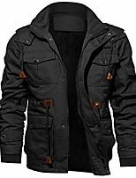 cheap -Men's Hiking Fleece Jacket Winter Outdoor Lightweight Windproof Breathable Quick Dry Jacket Top Fleece Fishing Climbing Camping / Hiking / Caving Black khaki Army Green Dark Blue Gray