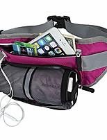 cheap -fanny pack with water bottle holder for running hiking dog walking-waist bag belt hold phone for women men kids waist 19-43 inch-red