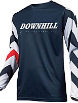 cheap -21Grams Men's Long Sleeve Downhill Jersey Spandex Dark Navy Bike Jersey Top Mountain Bike MTB Road Bike Cycling UV Resistant Quick Dry Sports Clothing Apparel / Athletic