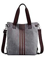 cheap -womens hobos crossbody shopping bags striped tote bag canvas totes handbags shoulder double strap grey