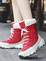 cheap -women comfy warm lining waterproof slip resistant lace up mid calf snow boots