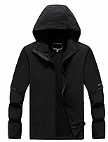 cheap -Men's Hiking Jacket Hiking Windbreaker Outdoor Lightweight Windproof Breathable Quick Dry Jacket Top Fishing Climbing Camping / Hiking / Caving Black 1
