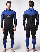 cheap -Men's Full Wetsuit 3mm Nylon SCR Neoprene Diving Suit Windproof Quick Dry Long Sleeve Back Zip Patchwork Autumn / Fall Spring Summer